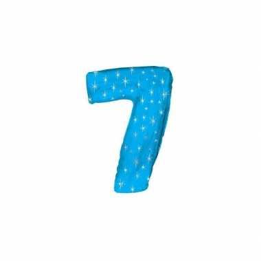 Nummer ballonnen 7 blauw