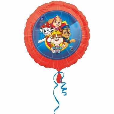 Paw patrol themafeest gefeliciteerd ballon 43 cm