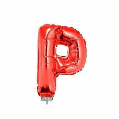 Rode letterballon p op stokje 41 cm