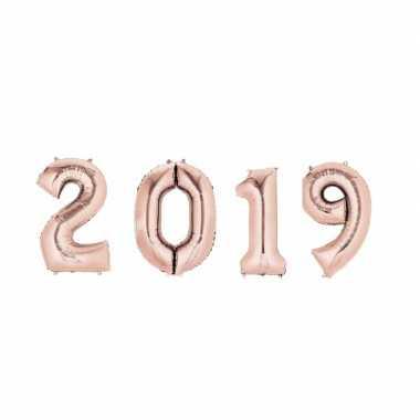 Rose gouden 2019 ballonnen voor oud en nieuw