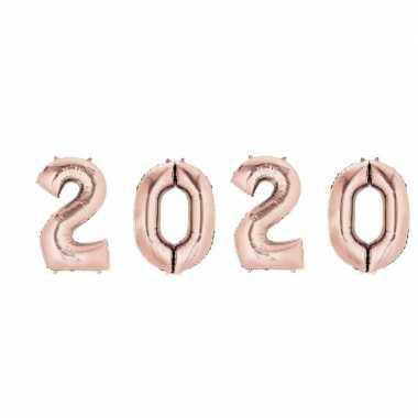 Rose gouden 2020 ballonnen voor oud en nieuw