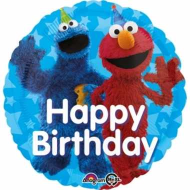 Sesamstraat verjaardags gefeliciteerd ballon 43cm