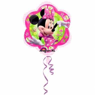 Themafeestje Minnie Mouse gefeliciteerd ballonnen 45 cm