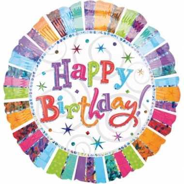 Verjaardag gefeliciteerd ballon helium