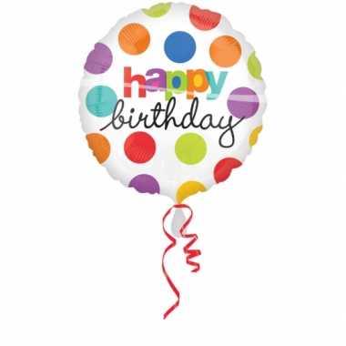 Verjaardags gefeliciteerd ballon helium