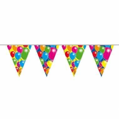 Vlaggenlijn ballonnen 10 meter