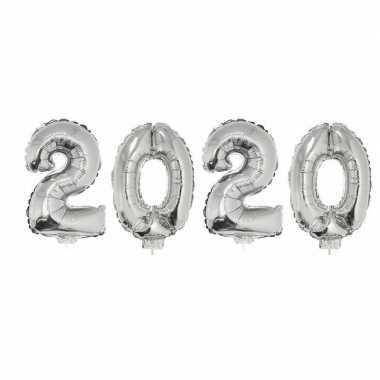 Zilveren 2020 ballonnen voor oud en nieuw