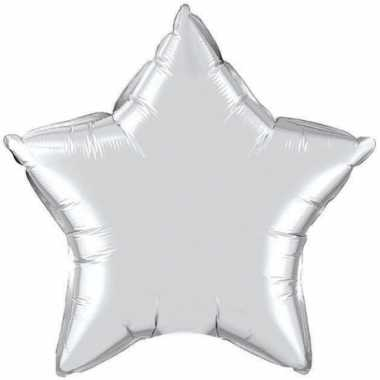 Zilveren sterretjes gefeliciteerd ballon 50 cm