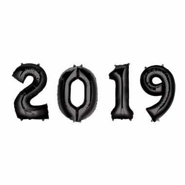 Zwarte 2019 ballonnen voor oud en nieuw