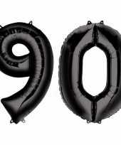 90 jaar zwarte gefeliciteerd ballonnen 88 cm leeftijd cijfer