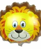 Dieren gefeliciteerdballon leeuw leeuwen 38 cm