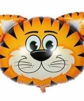 Dieren gefeliciteerdballon tijger 38 cm