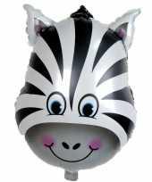 Dieren gefeliciteerdballon zebra 41 cm