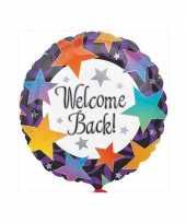 Feest gefeliciteerd ballon welcome back 46 cm