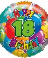 Gefeliciteerd ballon 18 jaar 45 cm