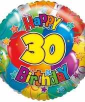 Gefeliciteerd ballon 30 jaar 45 cm