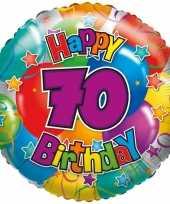 Gefeliciteerd ballon 70 jaar 45 cm