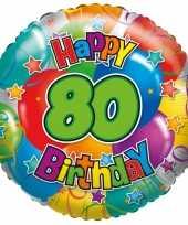 Gefeliciteerd ballon 80 jaar 45 cm