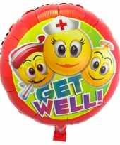 Gefeliciteerd ballon beterschap emoticon 45 cm