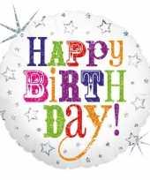 Gefeliciteerd ballon gefeliciteerd happy birthday 46 cm met helium gevuld