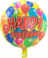 Gefeliciteerd ballon gefeliciteerd happy birthday ballonnen 45 cm met helium gevuld