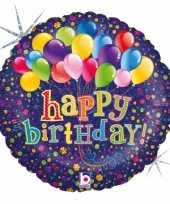 Gefeliciteerd ballon gefeliciteerd happy birthday ballonnen 46 cm met helium gevuld