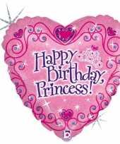 Gefeliciteerd ballon gefeliciteerd prinses happy birthday princess 46 cm met helium gevuld