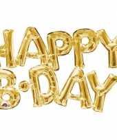 Gefeliciteerd ballon happy b day goud 76 cm