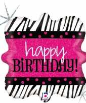 Gefeliciteerd ballon happy birthday verjaardag 46 cm met helium gevuld 10197937