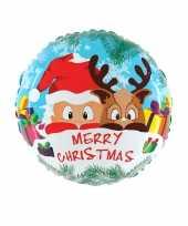 Gefeliciteerd ballon kerst merry christmas 46 cm met helium gevuld