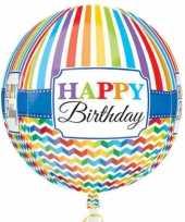Gefeliciteerd ballon orbz rond gefeliciteerd happy birthday 40 cm met helium gevuld