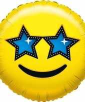 Gefeliciteerd ballon ster smiley 45 cm