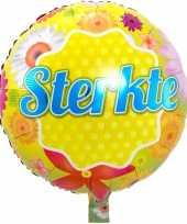 Gefeliciteerd ballon sterkte 46 cm met helium gevuld