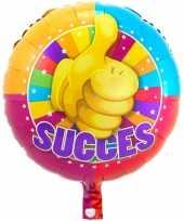Gefeliciteerd ballon succes 43 cm met helium gevuld