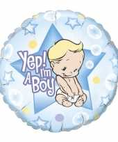 Gefeliciteerd ballon yep i am a boy
