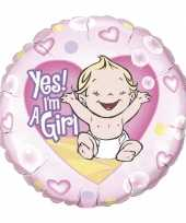 Gefeliciteerd ballon yes i am a girl