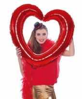 Gefeliciteerd foto frame hart rood 80 x 75 cm