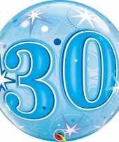 Gefeliciteerd helium ballon 30 jaar blauw 55 cm