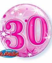 Gefeliciteerd helium ballon 30 jaar roze 55 cm