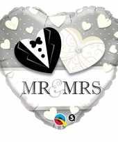 Mr en mrs gefeliciteerd ballon