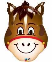 Paard dieren gefeliciteerd ballon 80 cm