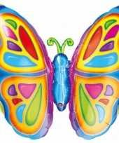 Vlinder gefeliciteerd ballon 63 cm